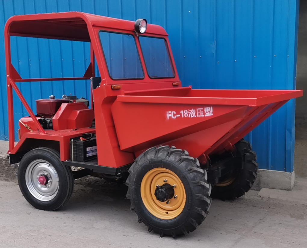FC-18 Hydraulic Type Mini Dump Truck Delivered to Africa for Farming Use