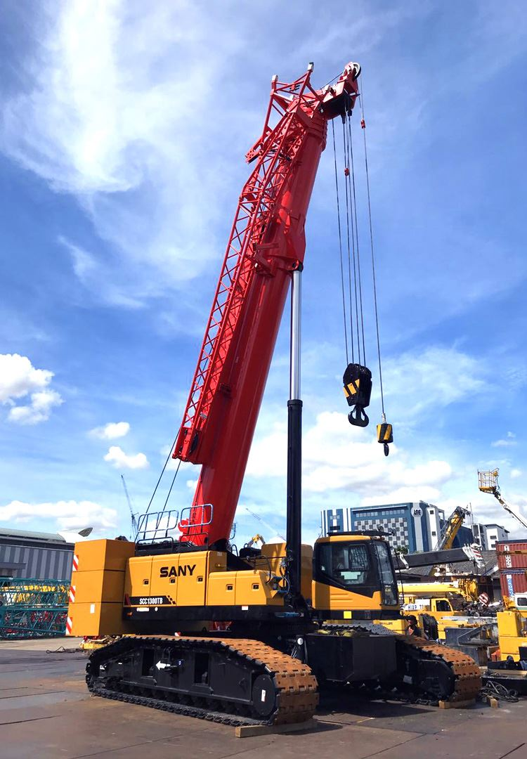 Lifting Higher With SANY's First & Largest Telescopic Crawler Crane SCC1300TB